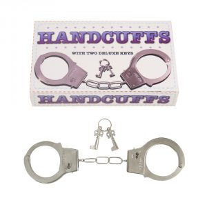 Police Metal Handcuffs With Two Keys