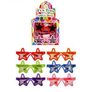 These colourful, star-shaped glasses will be a great addition to any dressing-up costume. They are fun little presents, party-bag fillers or prizes.