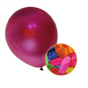 Pack of 12 Metallic Coloured Balloons